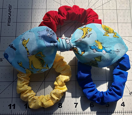 Primary Color Scrunchie Set