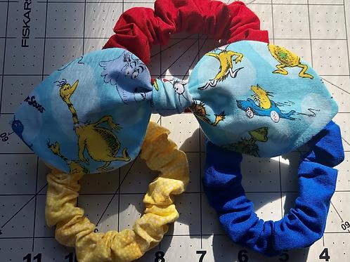 Primary Color Scrunchie Set