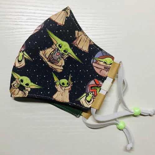 Youth Versatile Ninja Mullet - Baby Yoda snack time
