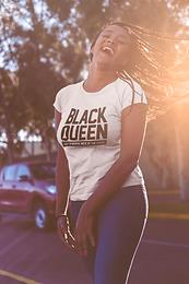 BLACK QUEEN CHESS TSHIRT
