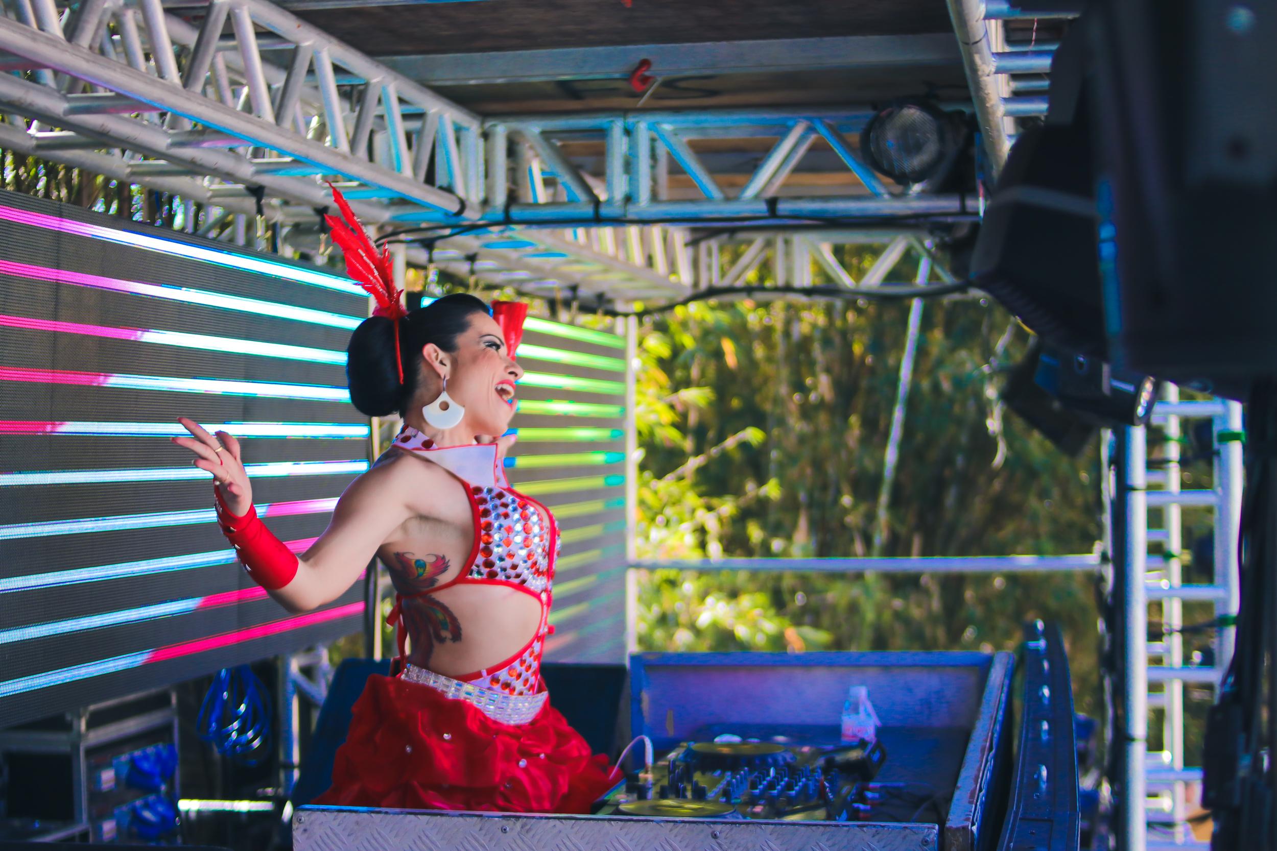DJ festa eletrônica