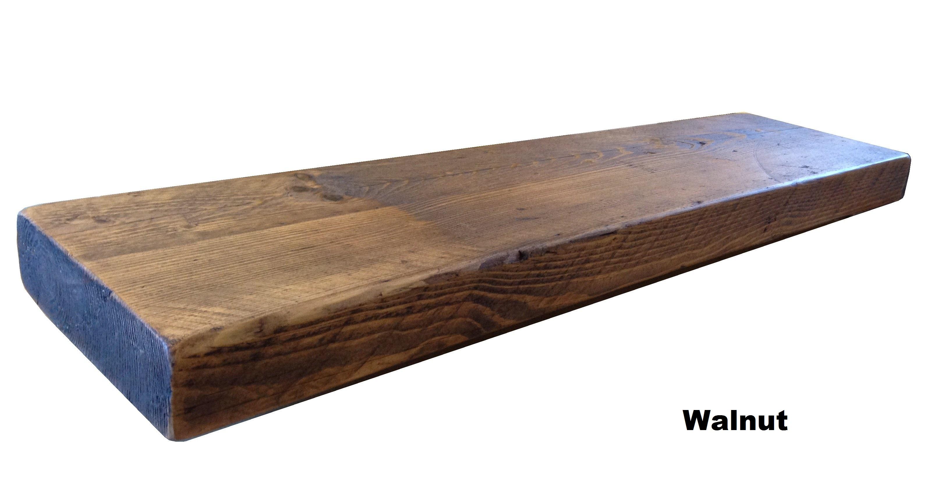 Chunky Wood Coffee Table: RECLAIMED CHUNKY FLOATING SHELF SHELVES WOODEN.