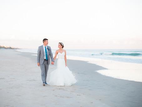 Aaron + Amber | Beach Wedding