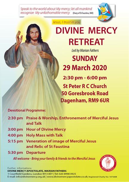 Divine Mercy Retreat  Sunday, 29 March 2020