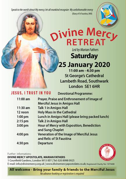Divine Mercy Retreat - 25 January 2020