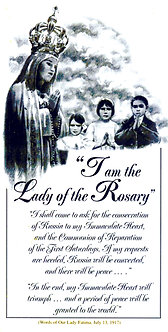I am the Lady of the Rosary