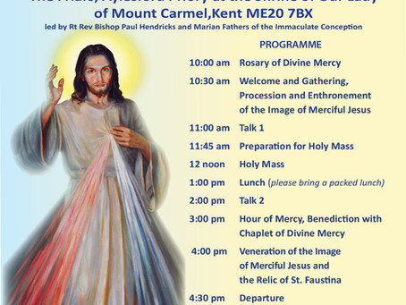 Divine Mercy Pilgrimage to Ayleford  18 April 2020
