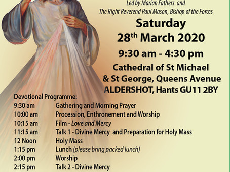 Divine Mercy Lenten Retreat -  28 March 2020