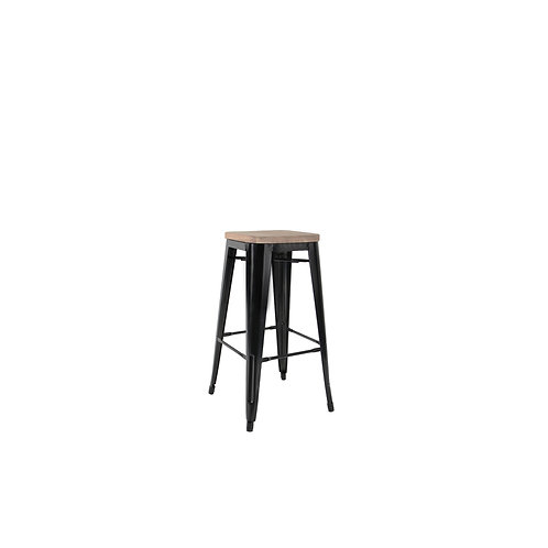 Tolix Wood Bar Stool