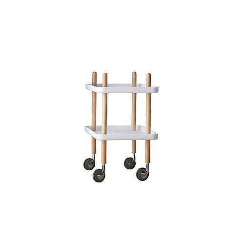 Rectangular Wheely Side Table