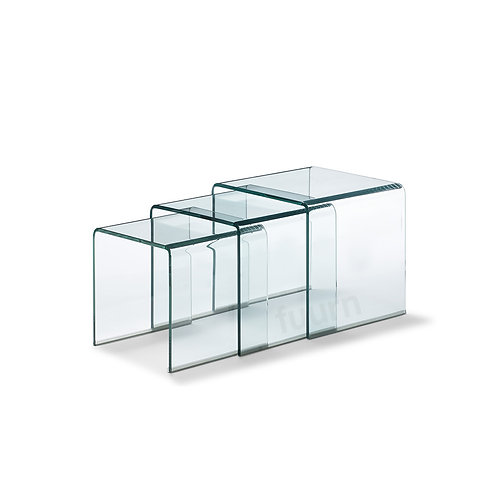 Glass Nesting Side Table