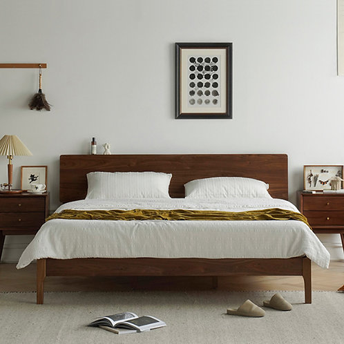 Solid Walnut Bed Frame