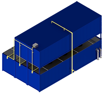 FlexBio wastewater technology for the food and beverage industry can be installed in containers to save space. You enjoy all the advantages of a fast and effective connection to your company.