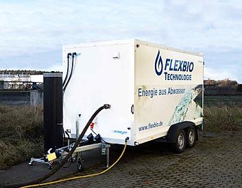 FlexBio Versuchsanhänger. Vorversuche bei Ihnen auf dem Betriebsgelände.