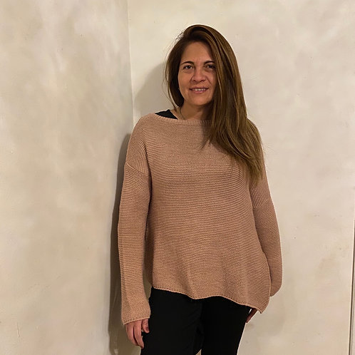 Sweaters correteado corte espalda