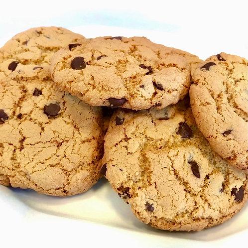 One Dozen Flourless Chocolate Chip Cookies