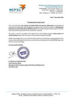 MEPSC Recognition Letter