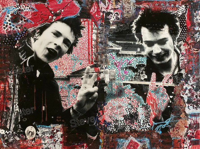 LA collab; Sex Pistols #1. 30x40