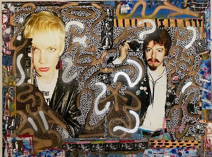 LA collab; Annie & Dave #2. 36x48