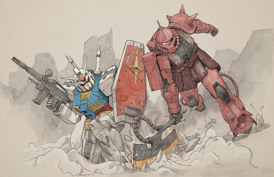 Online-Gundam-RX78vsZaku2 Color.jpg