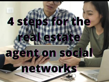 4 steps for the real estate agent on social networks