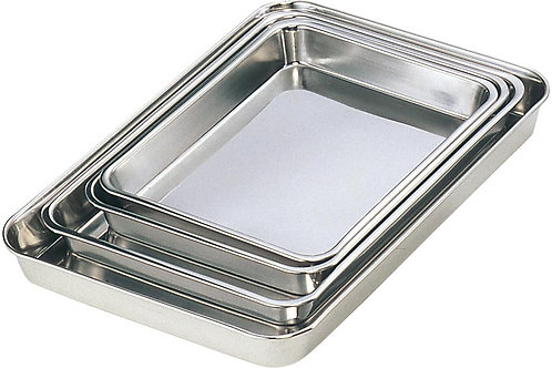 Storage Container Rectangular Shallow | Stainless Steel