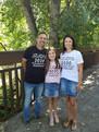 Jen Ron Lexie casual family pic at bridg