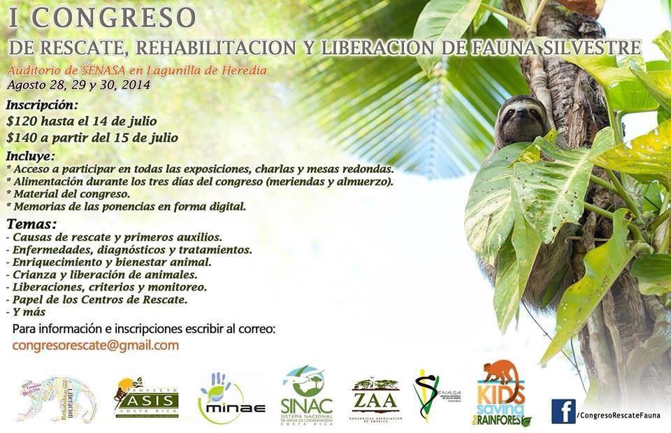 Congreso de Rescate, rehabilitacion y liberacion de fauna silvestre | Costa Rica