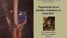 Charla: Experiencias de un científico ciudadano