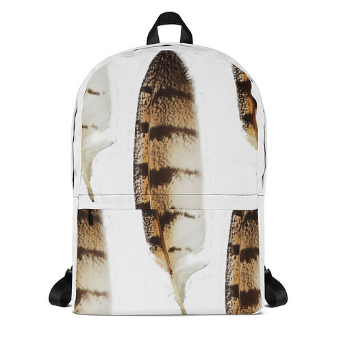 Backpack-Mask Owl Feather