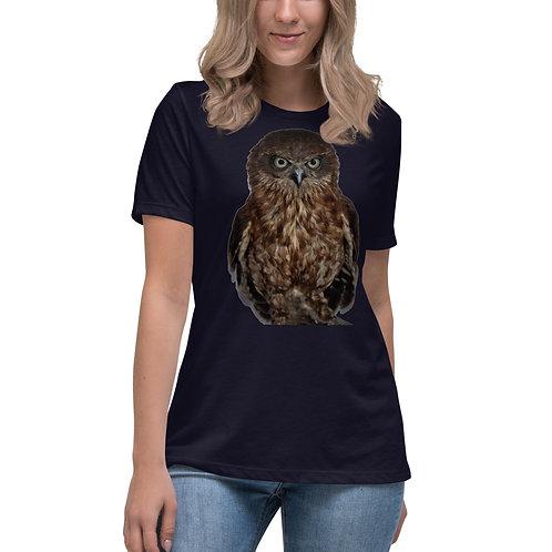 Women's Relaxed T-Shirt BB the Boobook Owl