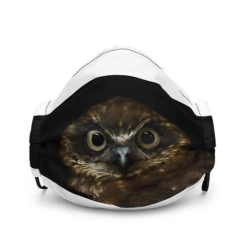 Premium face mask- Boobook Owl