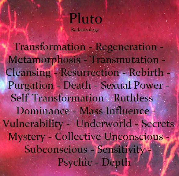 Pluto in the Houses- Powerful Transformation