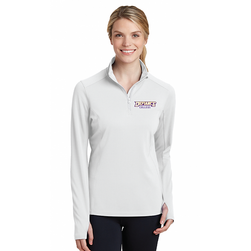 Women's White Quarter Zip