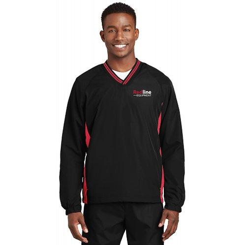 Sport-Tek Mens Tipped V-Neck Raglan Wind Shirt | Tall Options