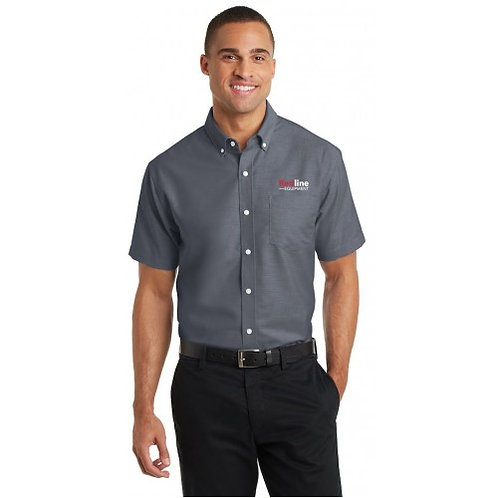 Port Authority Men's Superpro Oxfort Short Sleeve Shirt
