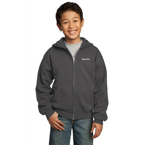 Youth Port & Company® Full-Zip Hooded Fleece Sweatshirt