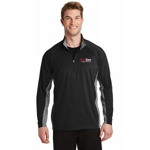 Sport-Tek Men's Sport-Wick Stretch Contrast Half-Zip Pullover