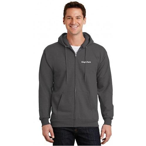 Men's Port & Company® Full-Zip Hooded Fleece Sweatshirt