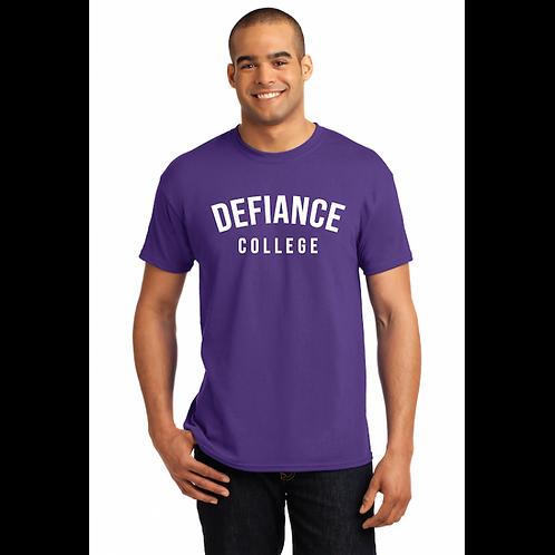 Hanes® Unisex Purple Defiance College Adult Tee
