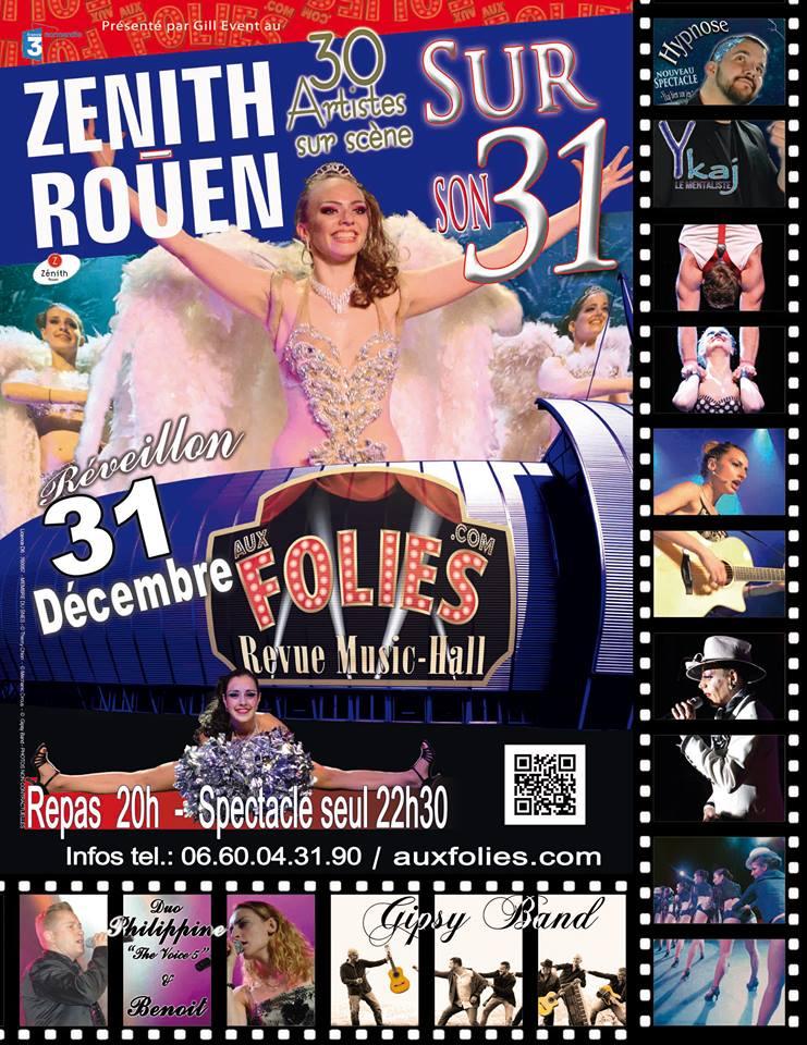 Affiche 31 Decembre Zhenit de Rouen