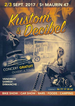 Affiche 2017 Festival Kustom&Decibel