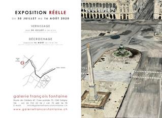 Exposition réelle à la galerie François Fontaine de Satigny Genève