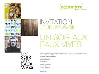 Un soir aux Eaux-Vives, Galerie Calamart