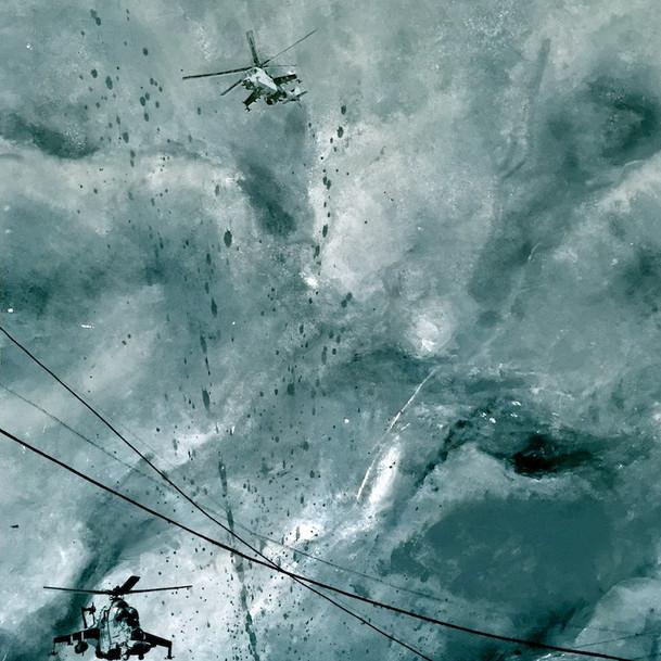 N°1371, Afghanistan 1982, 2018, 170x130 cm, acrylique et sérigraphie sur toile.