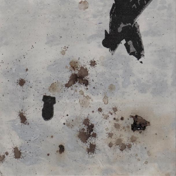 N°1375, France 13 juin 1940, 2018, 145x42 cm, sérigraphie et sang humain sur toile.