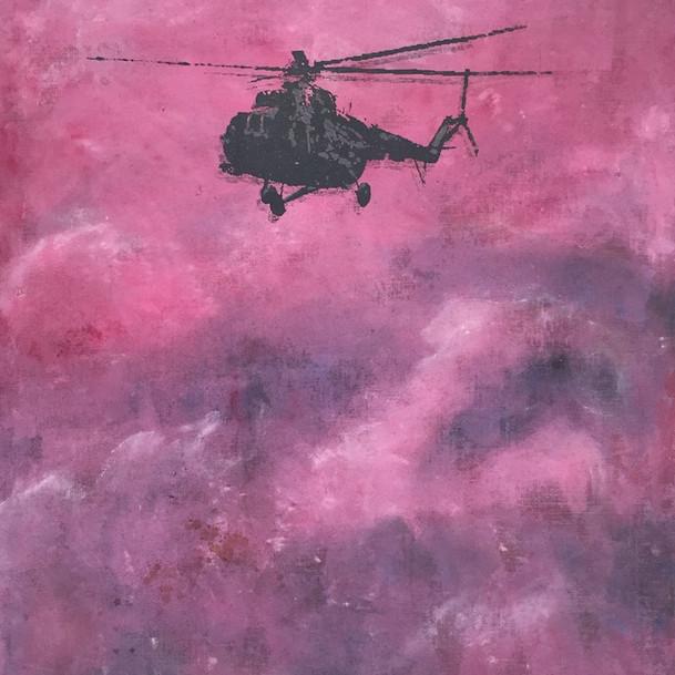 N°1368, Syrie 2015, 2018, 150x120 cm, acrylique et sérigraphie sur toile.