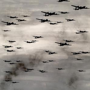 N°1370, Japon 1945, 2018, 200x136 cm, acrylique et sérigraphie sur toile. Collection privée