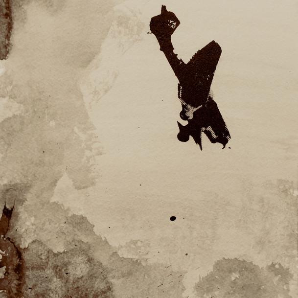 N°1375e, France 1940, 2018, 24x32 cm, sérigraphie et sang humain sur papier.