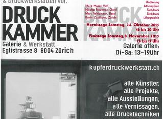 Quelques sérigraphies à Zurich                 du 24 octobre au 8 novembre 2015